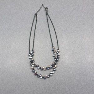 Lia Sophia double strand pearl necklace